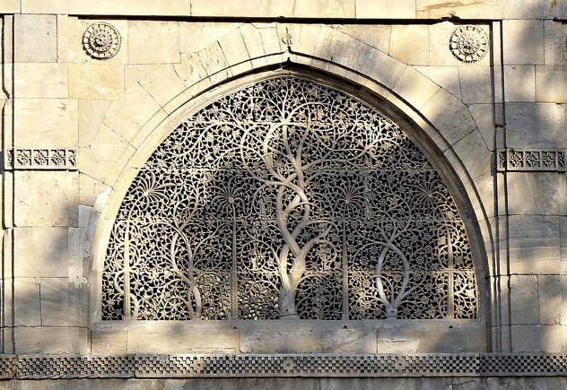 Sidi Sayeed Mosque's most famous jhali