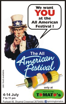 "Spinning Tomato's brings to you the ""All American Festival""!"