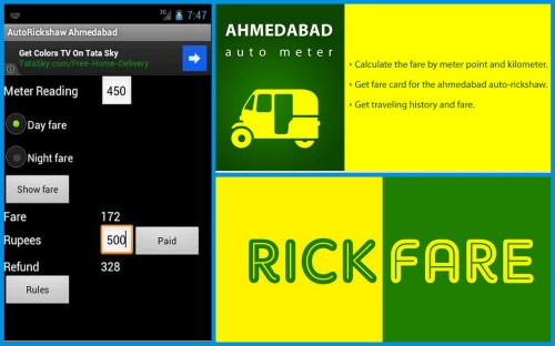 Our Top 3 picks: AutoRickshaw – Ahmedabad, Ahmedabad AutoMeter and Rick Fare Amdavad