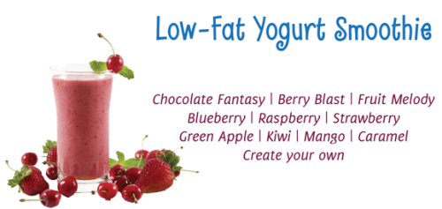 Low fat yogurt smoothies