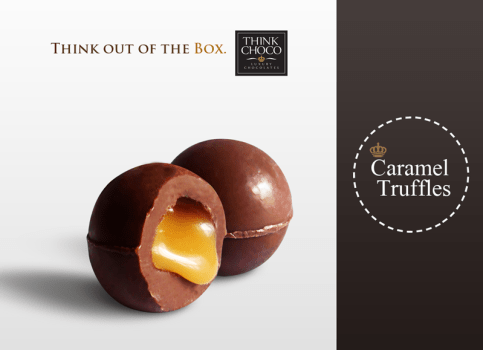 Think Choco Caramel Truffles with soft centre