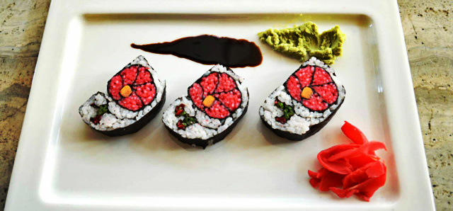Vegetarian sushi at Courtyard by Marriott, Ahmedabad