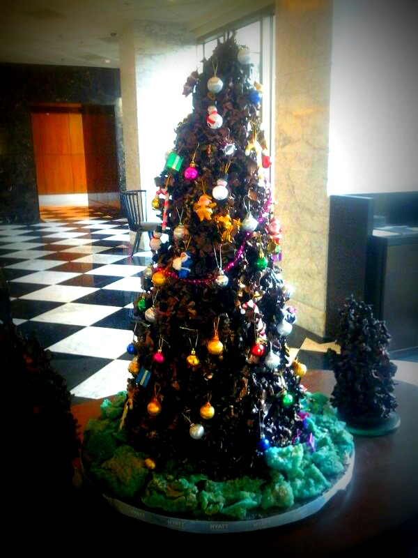 Chocolate Christmas Tree at Hyatt Ahmedabad