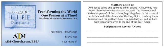 Discipleship Card