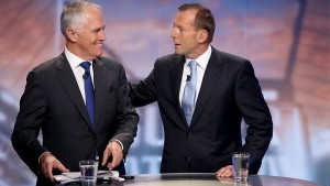 Malcolm Turnbull with Tony Abbott (Photo: Sydney Morning Herald)