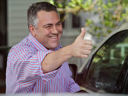 Is Joe Hockey giving me the thumbs up? (image by dailytelegraph.com.au)