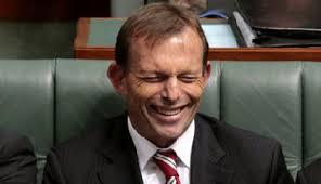 Tony Abbott looking . . . stupid (image by ozpolotic.com)