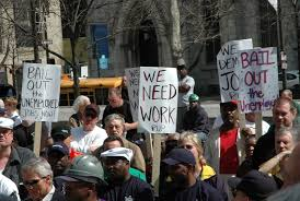 jobless protest