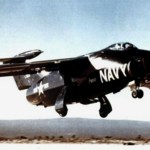 Grumman XF10F-1 Jaguar taking off in 1952 (US Air Force photo)