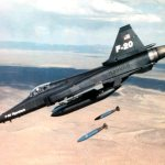 F-20 dropping iron bombs (Northrop photo)