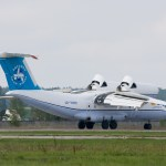 An-74 deceleration during landing with thrust reversers in deployed position (Media credit/Dmitry A. Mottl)
