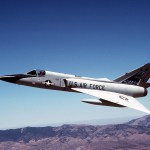 This F-106, which was the second-to-last F-106 in active service, had been used as a safety chase aircraft in the B-1B aircraft production acceptance flight test program.