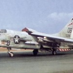 A Marine Corps F-8 at Da Nang, South Vietnam, in April 1966 (US Air Force photo)