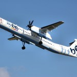 A Q400 with the longer fuselage operated by Flybe of the UK