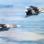 "Iranian F-14s, at least one of which (top) is carrying the AIM-54 ""Phoenix"""
