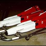Rear: GAR-3A (AIM-4F); Front: GAR-4A (AIM-4G) (US Air Force photo)