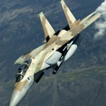 An Israeli Air Force F-15I (Ra'am) from the IDF/AF No 69 Hammers Squadron maneuvers away after receiving fuel from a KC-135 Stratotanker over Nevada's test and training ranges during Red Flag in August 2004.