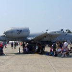 Visitors crowd around an A-10 from the 190th Fighter Squadron out of Idaho as one of three static A-10 displays at the Great New England Air Show 2012 (Air Cache photo/John M. Guilfoil)