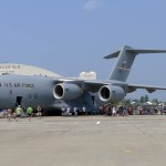 """An Air Force C-17 """"Globemaster III"""" parked on display (Air Cache photo/John M. Guilfoil)"""