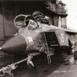 The Yak-141 aboard a Soviet Kiev-class aircraft carrier