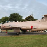 Non-flying preserved S.2B in 1991 Gulf War colours at Kemble Airport, England