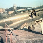 A rare color photo from WWII shows a MiG-3 captured by the Germans at Reichlin air base. Notice the painted black cross over the red star.