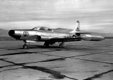 A U.S. Air Force Lockheed F-94A-5-LO Starfire (s/n 49-2586) from the 190th Fighter Interceptor Squadron, Idaho Air National Guard.