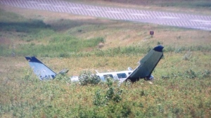 The plane was a Piper PA-31. It crashed after returning to Grand Manan Island from a Medevac Flight (CBC Photo)