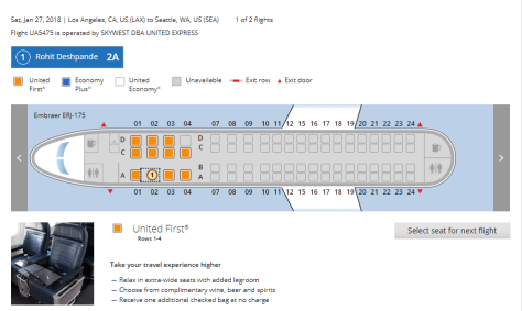 LAX-SEA seat