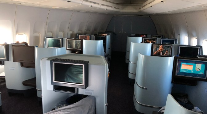 Review: KLM 747-400 World Business Class Amsterdam to Toronto