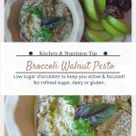 Broccoli walnut pesto