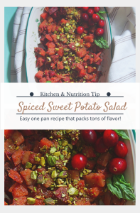 Spiced Tricolor Sweet Potato Salad