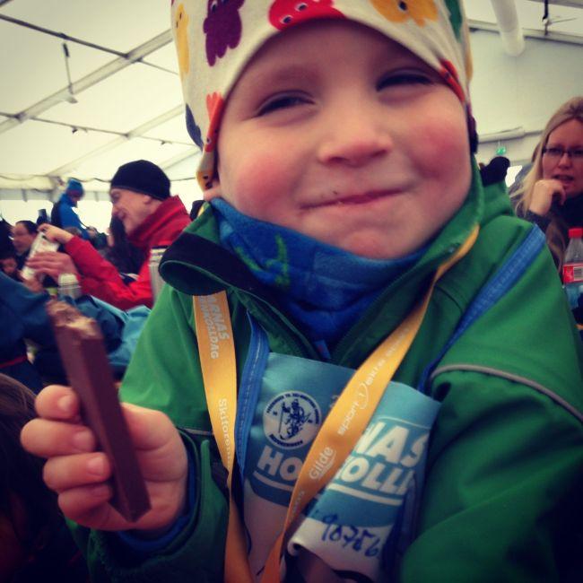 Den unge skientusiasten, -året før han ble oppmerksom på grøftefylla.