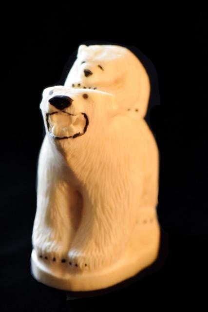 Ivory Carvings- Polar Bears by Randall Jones