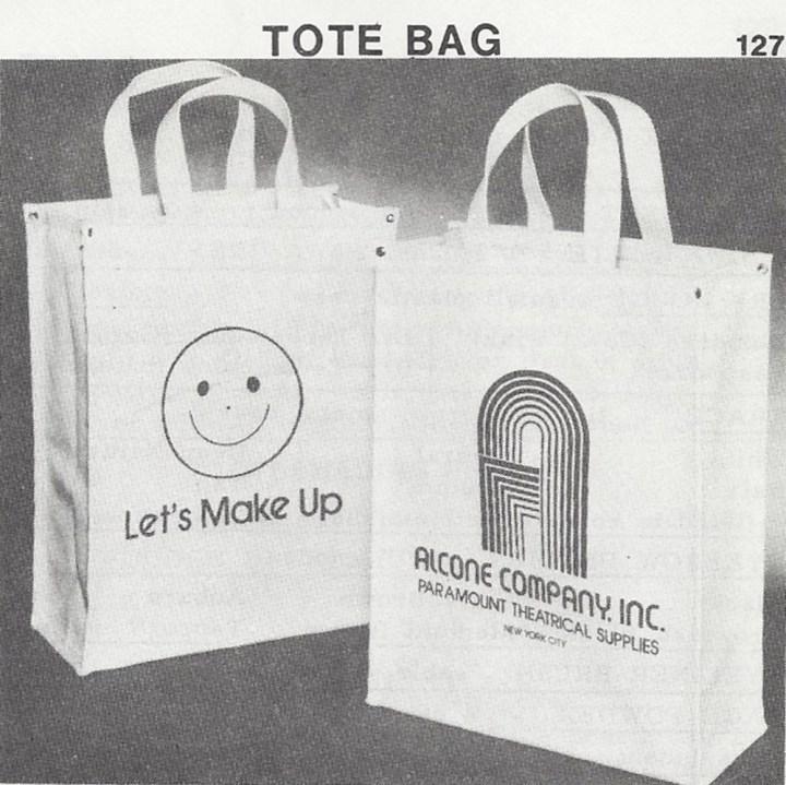 Alcone Company vintage makeup tote bag 1980