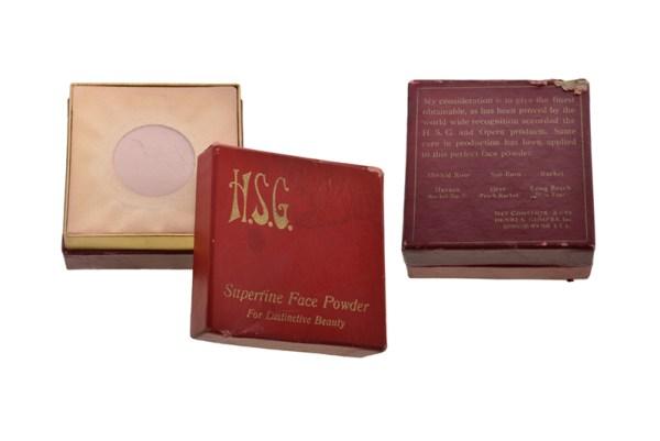 HSG Cosmetics powder vintage makeup