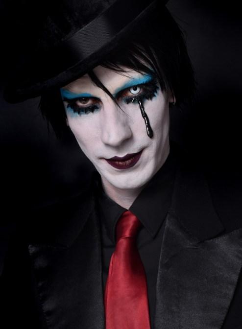 Manson Halloween makeup look