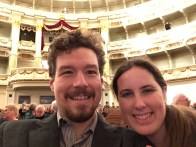 Sitting in the middle of the second to first row at the Semperoper
