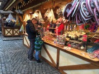 A winter market in Altmarkt offers hot alchoholic drinks, warm firepits, and lots of grilled meats and sweets.