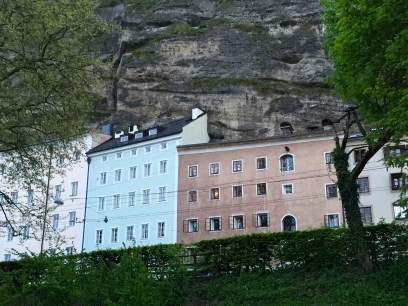 300 year old homes built right into the side of the Mönchsberg cliffs
