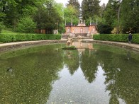 The water gardens at Hellbrun Palace
