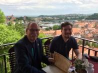 Enjoying lunch in Meissen