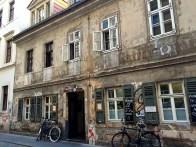Outside of Raskolnikof, the most hipster Russian restaurant in Dresden