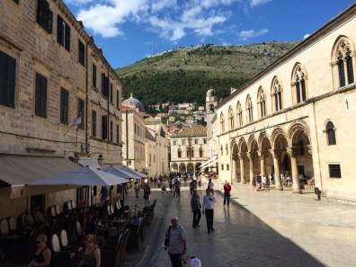 A main boulevard in Dubrovnik