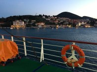 Looking out at Dubrovnik at 10pm before departure