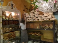 Bakery in Padua with giant meringues.