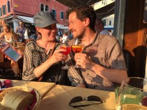 """We spent a few hours in a piazza known for it's """"Spritz Aperol"""" drinks, containing proseco and bitters."""