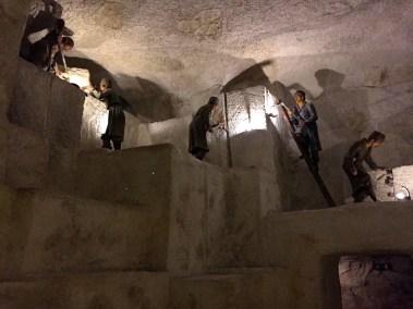 life-size Salt mining exhibit