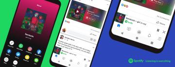 ผู้ใช้ Spotify ในระบบพรีเมียม สามารถค้นหา, เล่นเพลง, พอดแคสต์ บนแอป Facebook ได้โดยไม่ต้องเปลี่ยนแอป