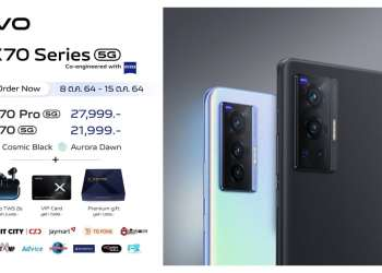 vivo X70 Series 5G สมาร์ตโฟนตัวท็อปเลนส์ ZEISS เปิดให้จองแล้ว ราคาเริ่มต้น 21,999 บาท รับทันทีของสมนาคุณรวมมูลค่ากว่า 12,000 บาท!